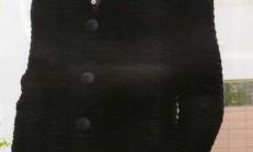 Siyah Düğmeli Apoletli Erkek Örgü Hırkası