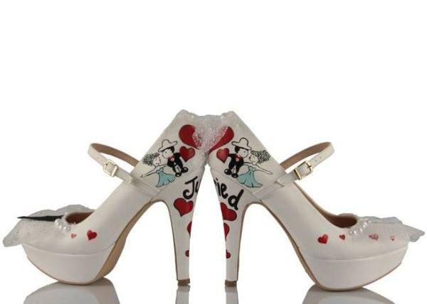 özel tasarım şık gelin ayakkabıları