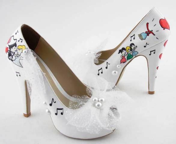 özel tasarım hoş gelin ayakkabılar