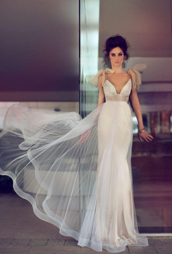 beyaz abiye elbise modeli