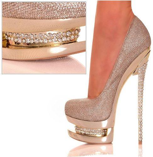 dore taşlı abiye ayakkabı modeli