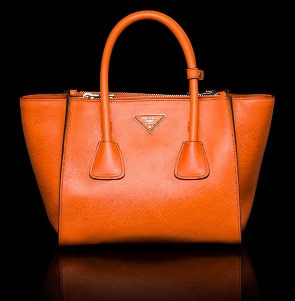 prada saplı turuncu çanta