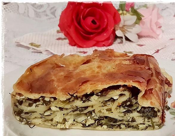 sütlü karbonatlı otlu börek