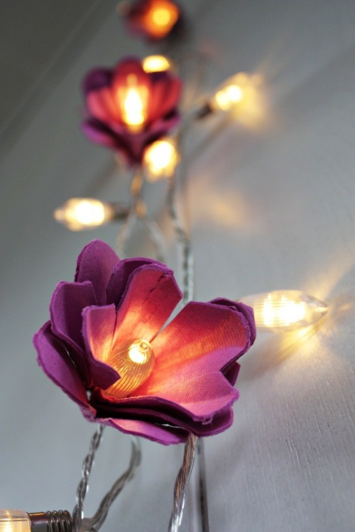 çiçek figürlü led aydınlatma