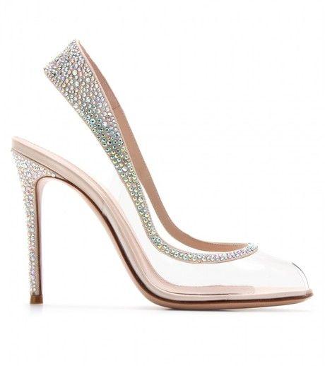 şeffaf taşlı ayakkabı modeli