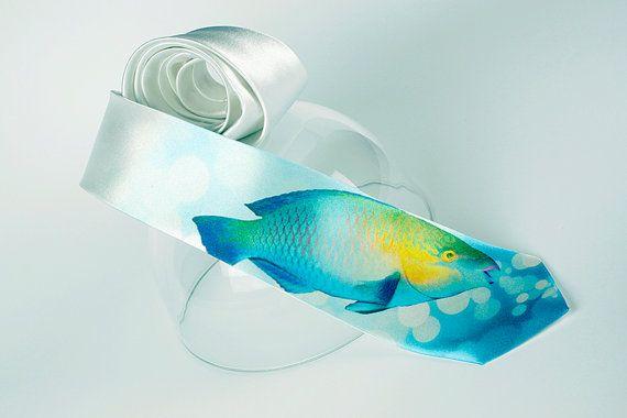 balık figürlü kravat modeli
