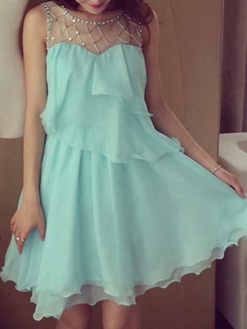 camgöbeği şifon elbise modeli
