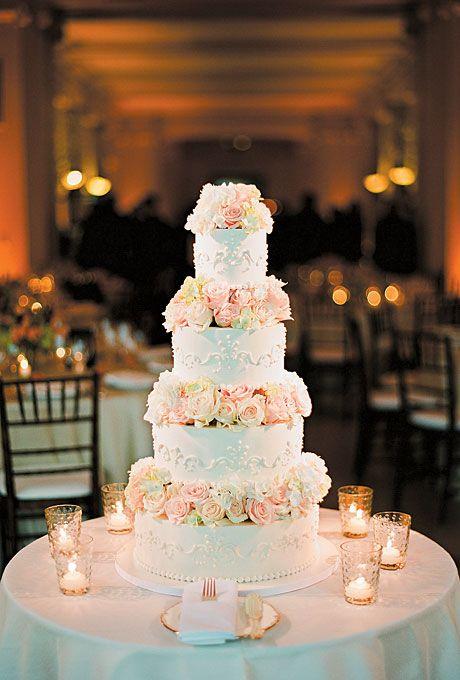 canlı gül detaylı düğün pastası