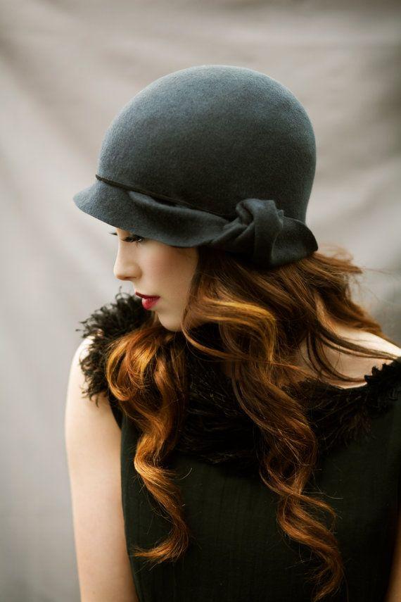 füme şık şapka modeli