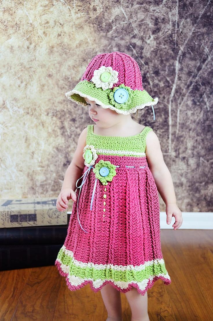 Tığ İşi Çocuk Elbise Yapılışı