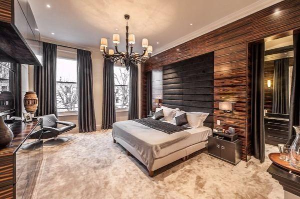 kahve krem yatak odası modeli