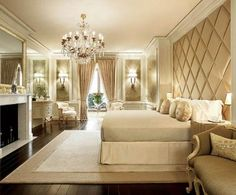 krem rengi yatak odası modeli