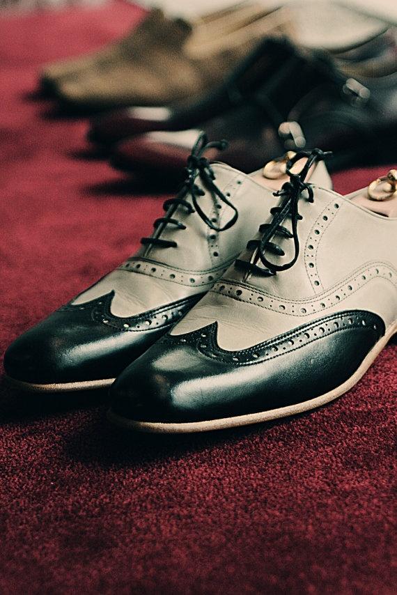 krem siyah erkek ayakkabı modeli