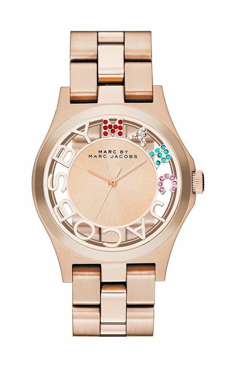 marc jacobs tasarım renkli taşlı saat modeli