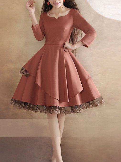 mat yavruağzı elbise modeli