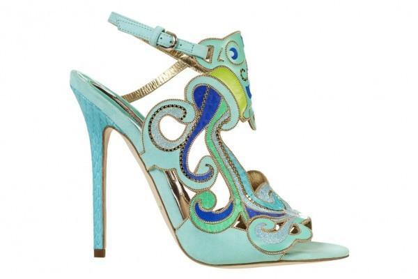 mavi şık ayakkabı modeli