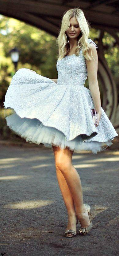 mavi dantelli elbise modeli