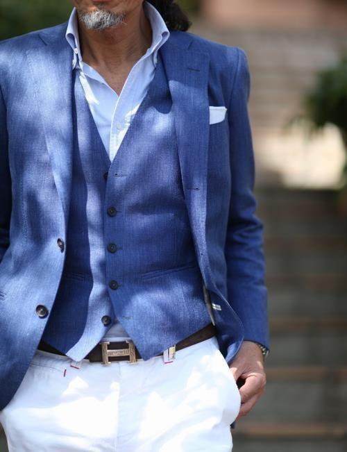 mavi erkek yelek modeli