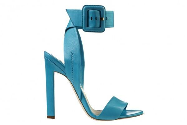 mavi tokalı ayakkabı modeli