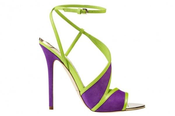 mor yeşil ayakkabı modeli