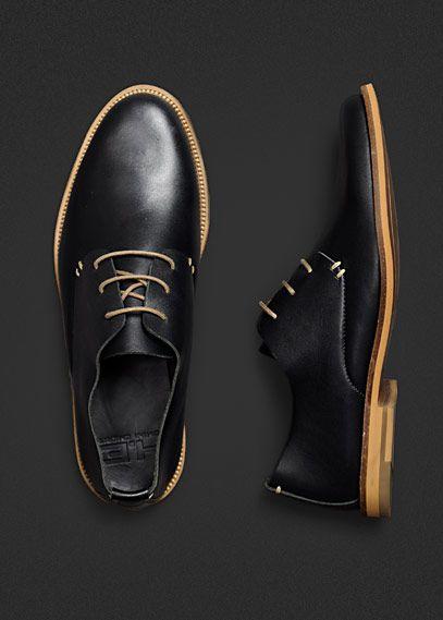 siyah deri erkek ayakkabı modeli
