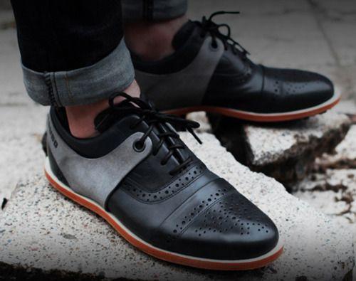 siyah gri erkek ayakkabı modeli