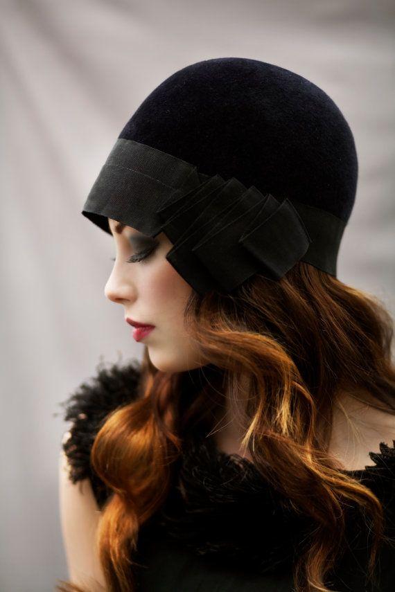 siyah kadife şapka modeli