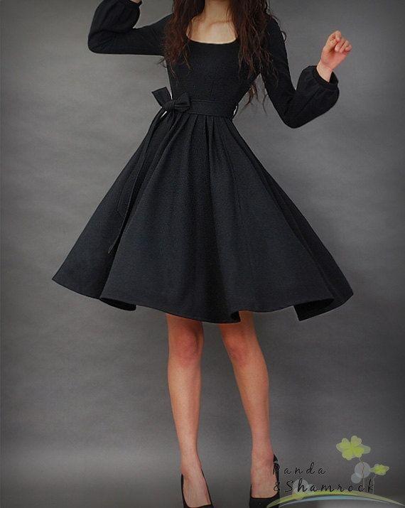 siyah kloş elbise modeli