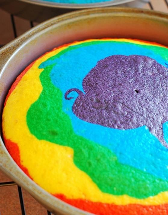 gökkuşağı pasta tarifi yapılışı