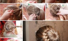 Saç Örgüsü İle Eşsiz Topuz Modeli