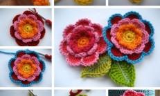 Tığ İşi Çiçek ve Yaprak Yapılışı