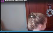 Merdiven Örgülü At Kuyruğu Saç Modeli