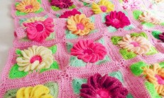 Çiçekli Bebek Battaniyesi Örelim