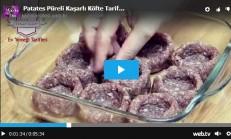 Patates Püreli Kaşarlı Köfte Tarifi Videolu