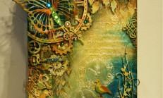 Tuval Üzerine Şablon Kabartmalı Harika Bir Resim Çalışması
