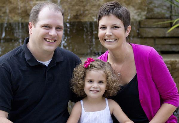 Heather McManamy Eşi Jeff ve Kızı Birina