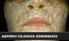 Sivilce ve Siyah Noktalar İçin Aspirin Maskesi