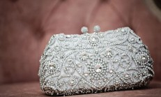 gümüş taşlı gece çantası