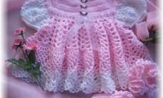 kız bebek örgü elbise modeli