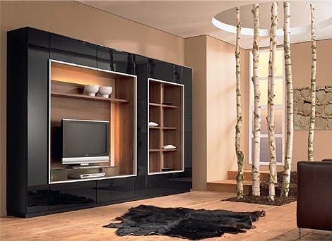 ahşap renklerden oluşan tv ünitesi modeli,2011-2012 için özel ...